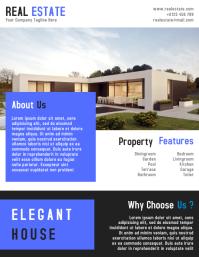 Real Estate Business Flyer Template Design