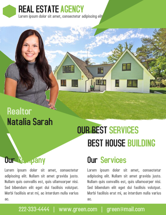 real estate business flyer template for realtor agent postermywall
