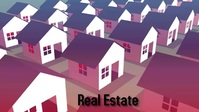 Real estate business homes Facebook Cover Video (16:9) template