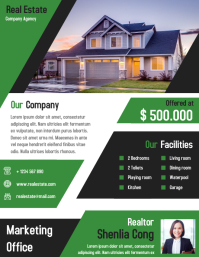 Real Estate Business Marketing Flyer Design Template