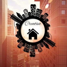real estate city house apartment logo template