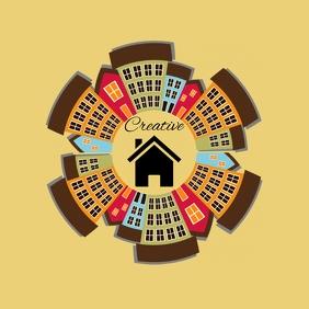 real estate city house apartment logo