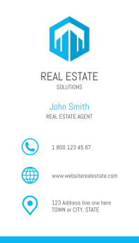 Real Estate Clean Design Business Card Wizytówka template