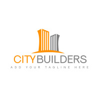 real estate construction services icon logo t template