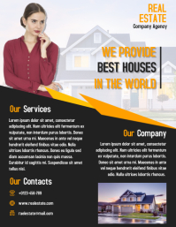 Real Estate Consultant flyer property business poster Рекламная листовка (US Letter) template