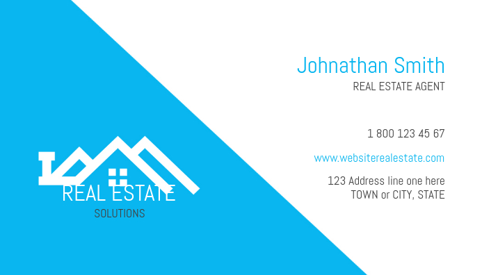 Real Estate Design, clean and simplistic. Business Card