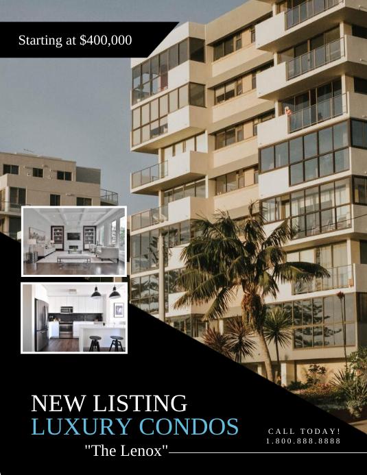 Real Estate 传单(美国信函) template