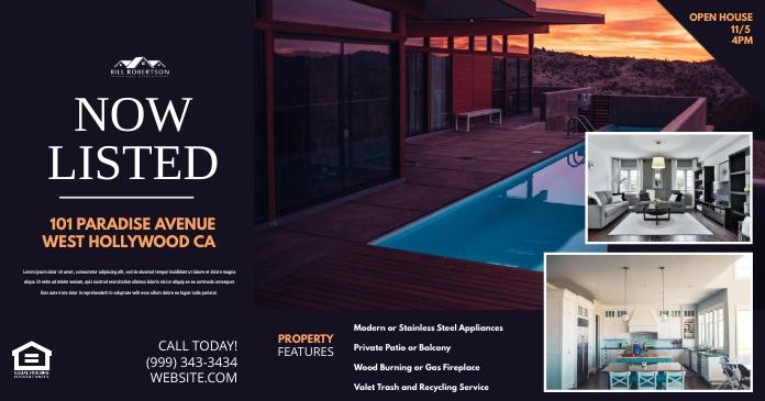 Real estate Ibinahaging Larawan sa Facebook template
