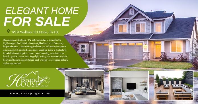 Real estate รูปภาพที่แบ่งปันบน Facebook template
