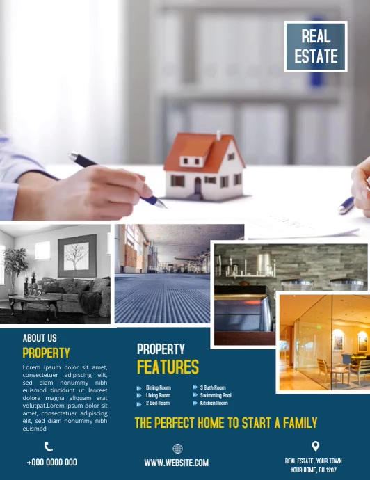Real estate Flyer (US Letter) template