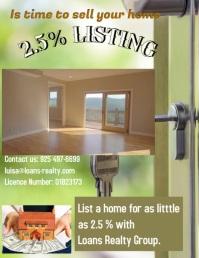 Real Estate Løbeseddel (US Letter) template