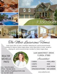 2 home sale flyer real estate flyer template