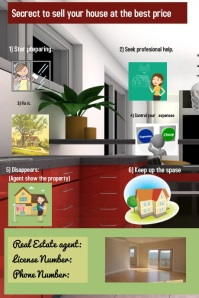 Real estate Plakat template