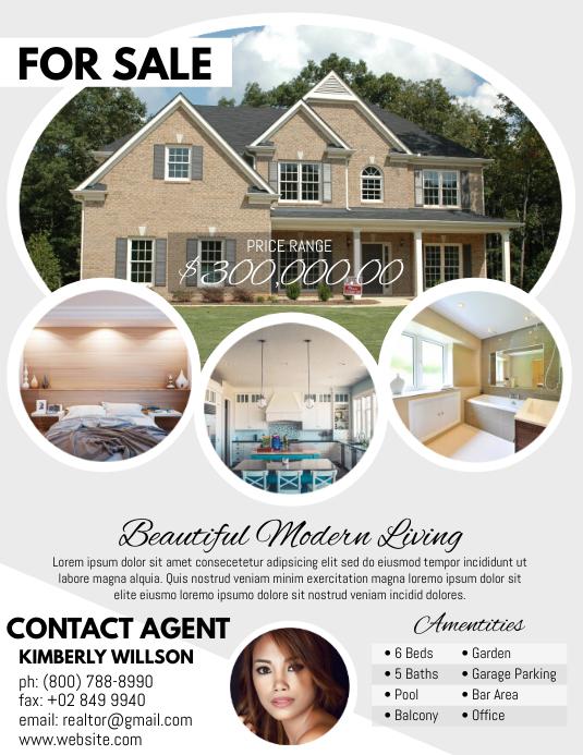 Real Estate Volante (Carta US) template