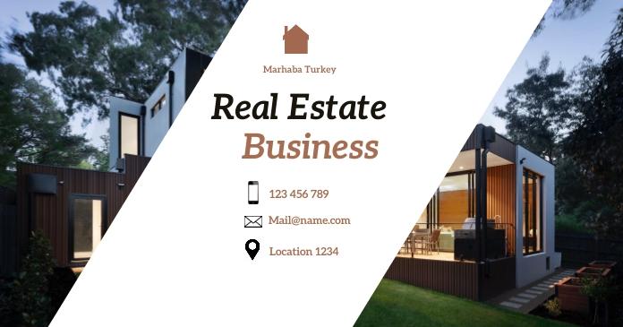 real estate delt Facebook-billede template