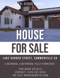 real estate Рекламная листовка (US Letter) template