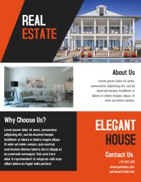 Real estate elegnt house flyer template creative design