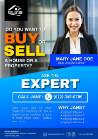 Real Estate Expert Flyer A4 template