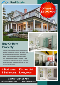Real Estate Flayer A4 template