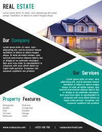 Real Estate Flyer & Brochure Templates Design Folder (US Letter)