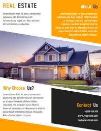 Real Estate Flyer & Leaflet Template Design