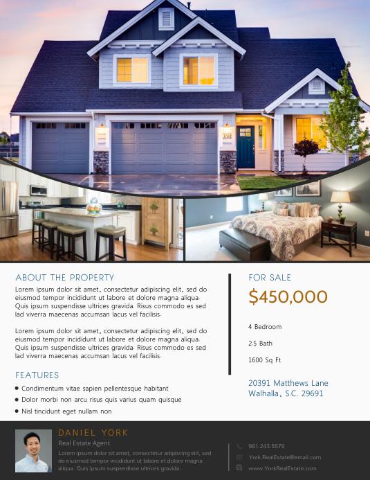 Real Estate Flyer 3 Photos