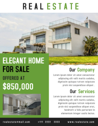 Real estate flyer creative design template