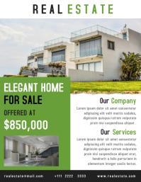 Real estate flyer creative design template