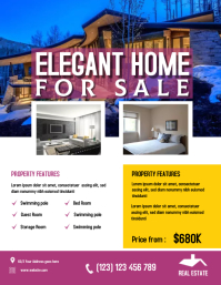 Real estate flyer Pamflet (Letter AS) template