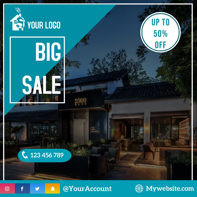 real estate flyer Instagram-bericht template