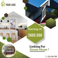 real estate flyer Publicação no Instagram template