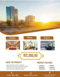 Real estate flyer Volante (Carta US) template