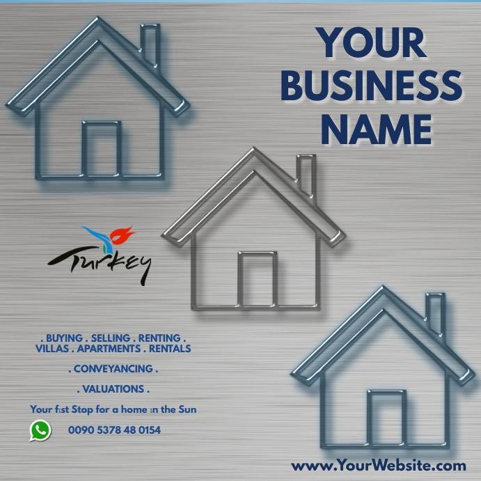 real estate flyer Kvadrat (1:1) template
