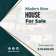 real estate flyer Instagram-Beitrag template