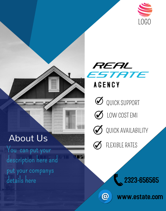 Real Estate Flyer Poster/muurbord template