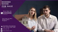 real estate flyer วิดีโอหน้าปก Facebook (16:9) template