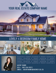 Real Estate Flyer Ulotka (US Letter) template