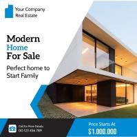 real estate flyer Instagram Plasing template
