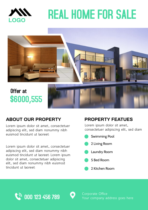 Real Estate Flyer A4 template