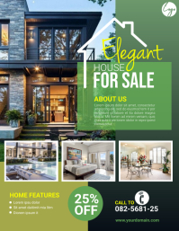Real Estate Flyer Рекламная листовка (US Letter) template