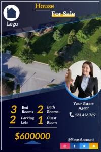 real estate flyer Плакат template