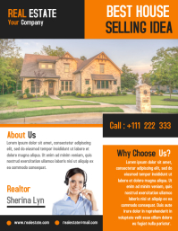 Real estate flyer marketing template design