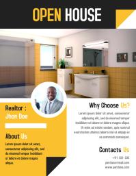 Real estate flyer marketing template design