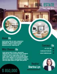 Real estate flyer marketing template design 传单(美国信函)