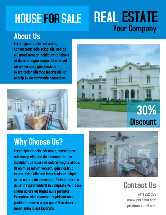 Real Estate Flyer Marketing Template Design Postermywall