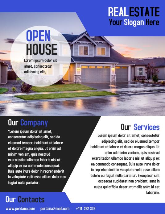 Real estate flyer marketing template t design