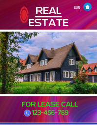 real estate flyer template,poster,small business flyer
