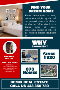 Clean real estate flyer