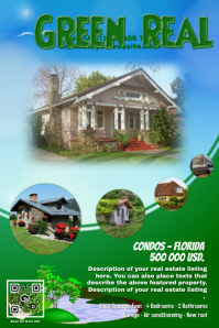 Environment Poster Templates PosterMyWall - Real estate brochure template free download