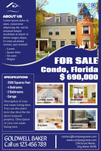 Franchise real estate flyers - Blue - V2